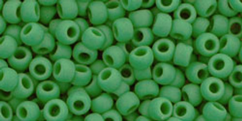Toho Seed Beads 8/0 Rounds Opaque-Frosted Shamrock