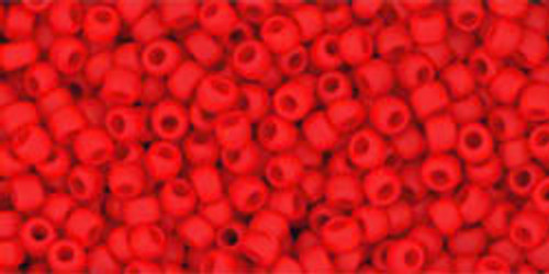 Toho Seed Beads 11/0 Rounds Opaque-Frosted Cherry