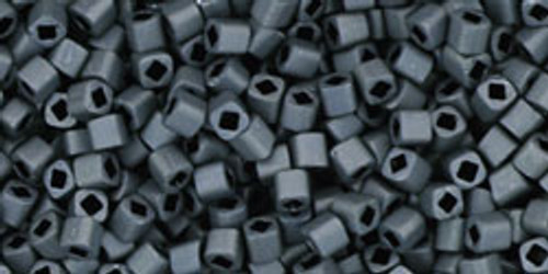 Toho Seed Beads Cubes 1.5mm Matte Color Opaque Gray