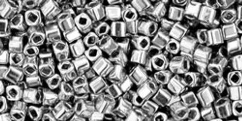 Toho Seed Beads Cubes 1.5mm Metallic- Silver