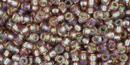 Toho Seed Beads 11/0 Rounds Silver-Lined Rainbow Amethyst