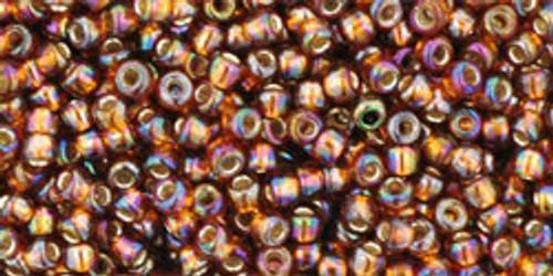 Toho Seed Beads 11/0 Rounds Silver-Lined Rainbow Topaz