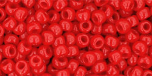TOHO Seed Beads 8/0 Rounds #75 Opaque Cherry 50 Gram pack