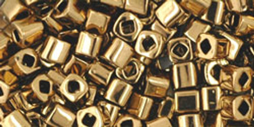 Toho Seed Beads Cubes 3mm Bronze