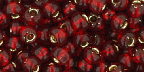 TOHO Seed Beads 6/0 Rounds Silver-Lined Garnet