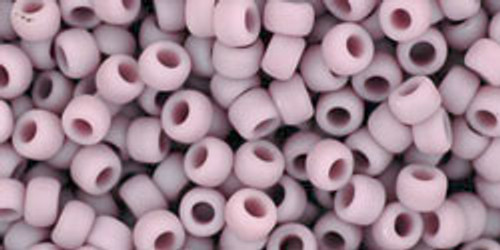 Toho Seed Beads 8/0 Rounds Opaque-Frosted Lavender