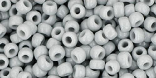 Toho Seed Beads 8/0 Rounds Opaque Gray 8 gram tube