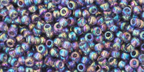 Toho Seed Beads 11/0 Rounds Transparent Rainbow Sugar Plum