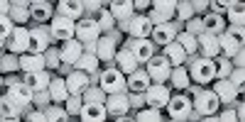 Toho Seed Beads 8/0 Rounds Opaque-Frosted Gray