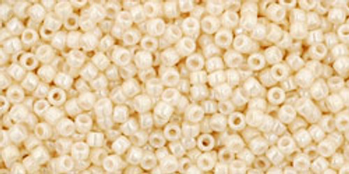 Toho Seed Beads 15/0 Rounds Opaque-Lustered Light Beige 9 gram