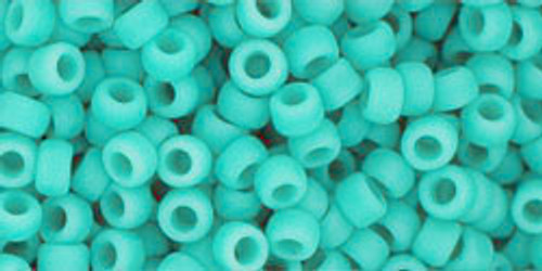Toho Seed Beads 8/0 Rounds Opaque-Frosted Turquoise