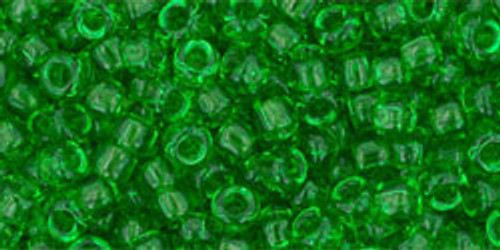 Toho Seed Beads 8/0 Rounds Transparent Peridot
