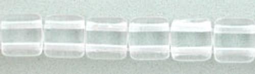 CzechMates 2-Hole 6mm Beads Crystal 25pcs