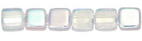 CzechMates 2-Hole 6mm Beads Crystal A/B 25pcs