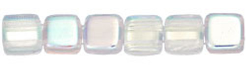 CzechMates 2-Hole 6mm Beads Crystal A/B 50pcs