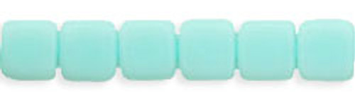 CzechMates 2-Hole 6mm Beads Opaque- Pale Turquoise 25pcs