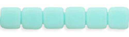 CzechMates 2-Hole 6mm Beads Opaque- Pale Turquoise 25pcs