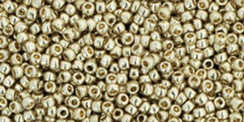 Toho Seed Beads 15/0 Rounds Permanent Finish Galvanized Aluminum 9 gram