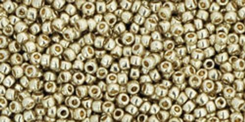 Toho Seed Beads 15/0 Rounds Permanent Finish Galvanized Aluminum 9 gram