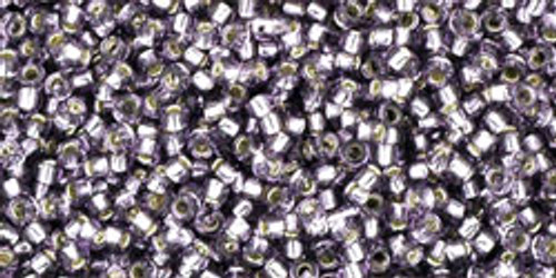 Toho Seed Beads 15/0 Rounds Silver-Lined Tanzanite