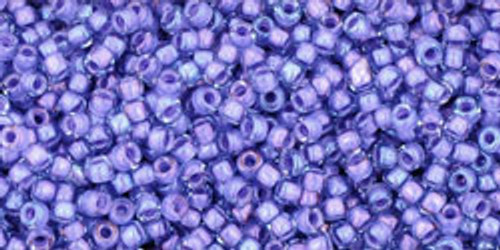 Toho Seed Bead 15/0 Round In-Light Sapphire/Opaque Purple Lined