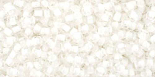 Toho Seed Beads 15/0 Rounds In-Crystal/Snow Lined