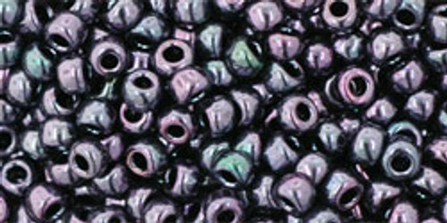 Toho Seed Beads 8/0 Rounds Metallic Amethyst Gun Metal TR-08-90