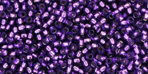 Toho Seed Beads 15/0 Rounds Silver-Lined Purple