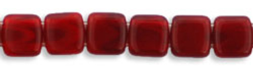 CzechMates 2-Hole 6mm Beads Oxblood 50pcs