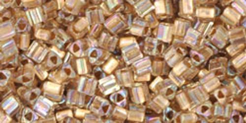 TOHO Seed Beads Triangles 11/0 Gold-Lined Rainbow Crystal