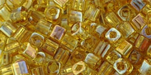 Toho Seed Beads Cubes 3mm HYBRID Topaz Twilight