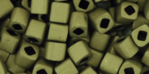 Toho Seed Beads Cubes 4mm Matte-Color Dark Olive