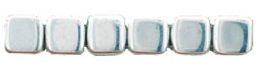 CzechMates 2-Hole 6mm Beads Silver 50pcs