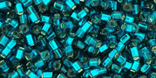 Toho Seed Beads Cubes 1.5mm Silver-Lined Teal