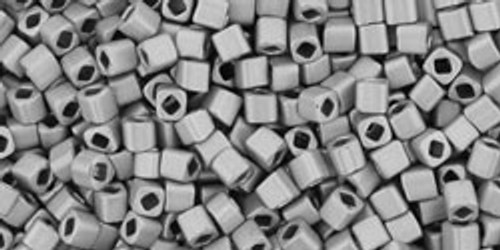 Toho Seed Bead Cubes 1.5mm Metallic-Silver/Frosted Antique Silver