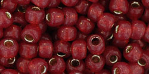 TOHO Seed Beads 6/0 Rounds Silver-Lined Milky Pomegranate