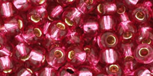 TOHO Seed Beads 6/0 Rounds Silver-Lined Mauve