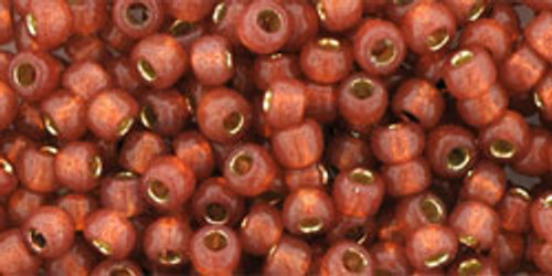Toho Seed Beads 8/0 Rounds #89 Silver-Lined Milky Pomegranate 20 gr