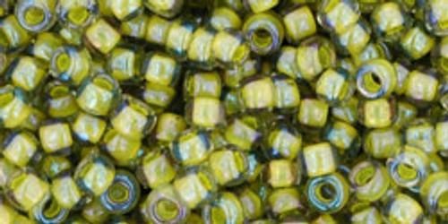 Toho Seed Beads 8/0 Rounds #92 Black Diamond/Opaque Yellow Lined 20g