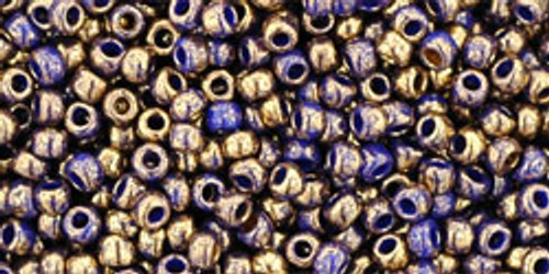 TOHO Seed Beads 11/0 Rounds Gilded Marble Blue