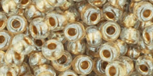 TOHO Seed Beads 6/0 Rounds Gold Lined Crystal 8 gram tube