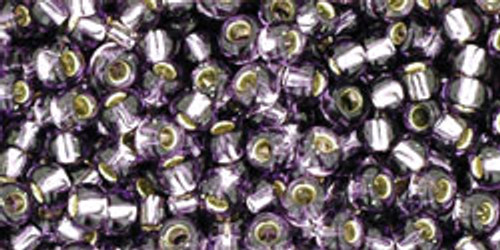 TOHO Seed Beads 8/0 Rounds Silver lined Tanzanite 8 gram tube