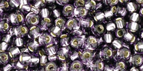 TOHO Seed Beads 8/0 Rounds Silver lined Tanzanite 8 gram tube