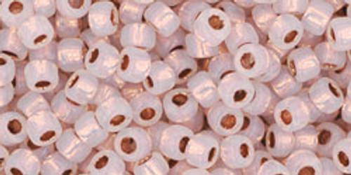 TOHO Seed Beads 8/0 Rounds Copper lined Alabaster 8 gram tube