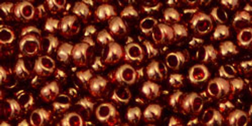 TOHO Seed Beads 8/0 Rounds Gold Lustered African Sunset 8 gram