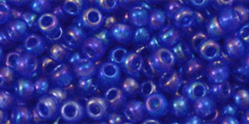 TOHO Seed Beads 8/0 Rounds Transparent Rainbow Sapphire 8 gram