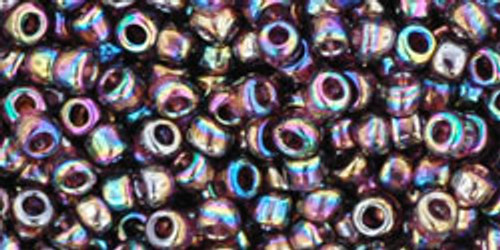TOHO Seed Beads 8/0 Rounds Transparent Rainbow Amethyst 8 gram