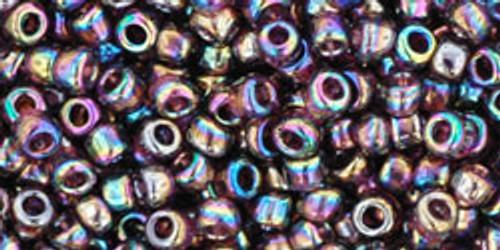 TOHO Seed Beads 8/0 Rounds Transparent Rainbow Amethyst 8 gram
