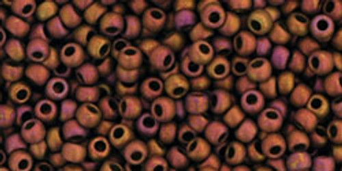 Toho Seed Beads 11/0 Rounds 'Higher Metallic Frosted Copper Twilight'