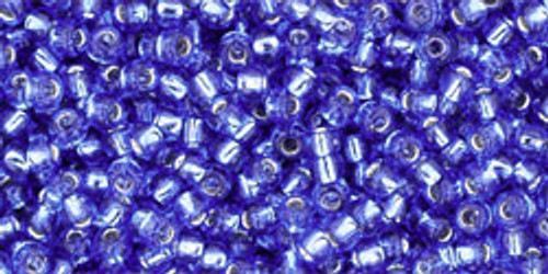 Toho Seed Beads 11/0 Rounds Silver Lined Sapphire